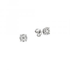 Orecchini Punto Luce Oro Diamanti ct. 0,72