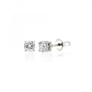 Orecchini Punto Luce Oro Diamanti ct. 0,12
