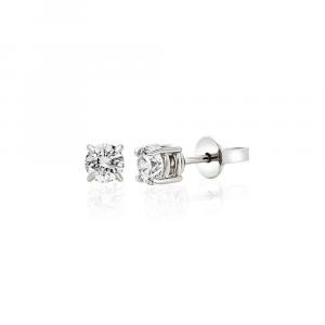Orecchini Punto Luce Oro Diamanti ct. 0,17