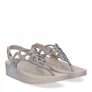 Fitflop Bumble Crystal sandal silver