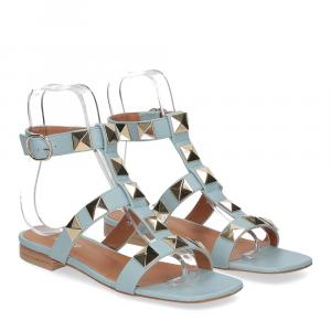 Il Laccio sandalo C108 pelle azzurro