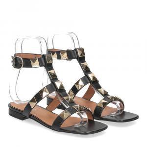Il Laccio sandalo C108 pelle nero