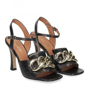 Il Laccio sandalo C306 pelle nero