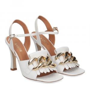 Il Laccio sandalo C306 pelle bianco