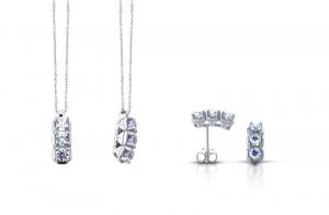 TRAMONTANO - ORECCHINI TRILOGY in oro e diamanti