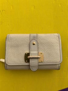 Wallet Louis Vuitton White Panna With Buckle Orginale