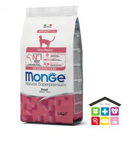Monge cat Sterilised Monoprotein – Manzo 1,5kg