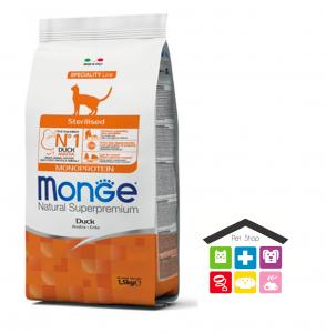 Monge cat Sterilised Monoprotein – Anatra 1,5kg /10kg