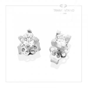 TRAMONTANO - ORECCHINI PUNTO LUCE in oro e diamanti