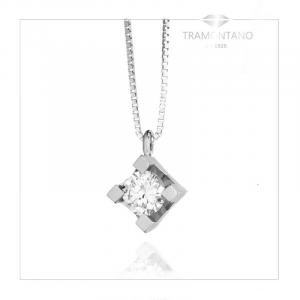 TRAMONTANO - Collana PUNTO LUCE in oro e diamante