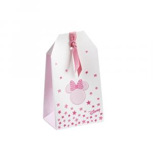 Astuccio shoppy portaconfetti con foro Minnie rosa