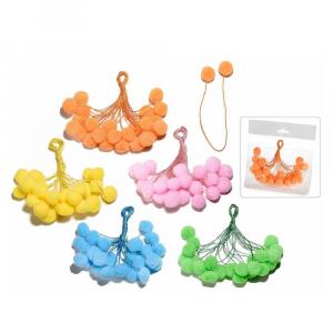 60 fili chiudipacco modellabile con pompon