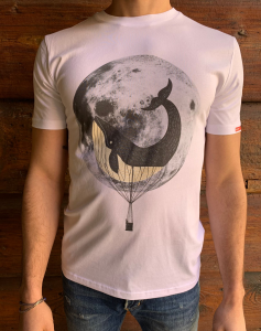 T-SHIRT STAMPA MOONWHALE