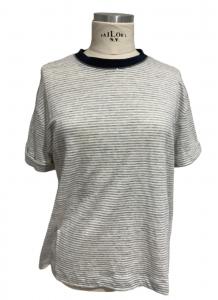 T-shirt in jersey rigato di Brunello Cucinelli