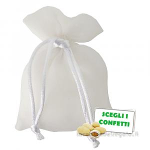 Portaconfetti Lucido Bianco 7x10 cm - Sacchetti bomboniere