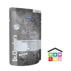 Dr Clauder's cat  – 05 Pollo e Tonno con Spinaci bustina 0,85g