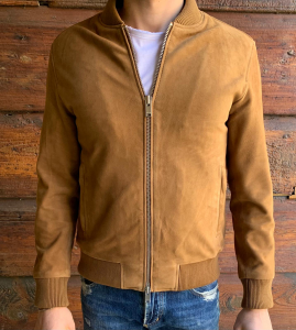 BOMBER PELLE SUEDE SELECTED