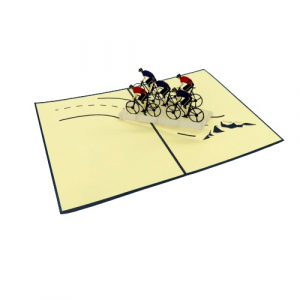 Biglietto augurale ciclismo Origamo