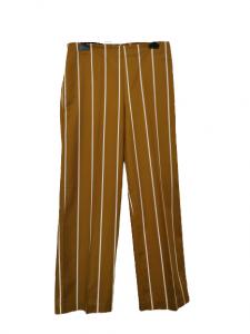 pantalone donna |in cotone kaki | gessato bianco | con tasca laterale |modello sportivo | made in Italy