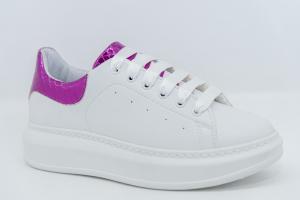 VITAMINA TU GAETA JASMINE Sneakers in Ecopelli con inserti in Rettile
