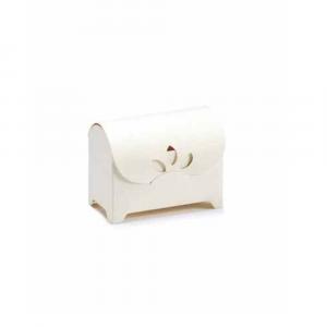 Scatola a cofanetto classico avorio piccolo cm 6 x 3,5 x 4,5 H