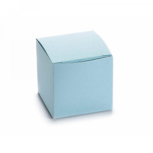 Scatola cubo in carta azzurro cm 5 x 5 x 5 H