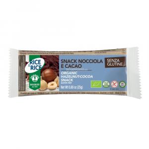 SNACK DI RISO ALLA NOCCIOLA E CACAO  25g  RICE & RICE
