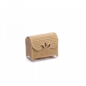 Scatola a cofanetto naturale rustico piccolo cm 6 x 3,5 x 4,5 H