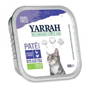 Patè per gatti di pollo e tacchino con aloe vera Yarrah