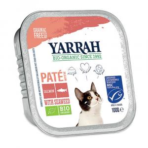 Paté per gatti salmone e alghe Yarrah