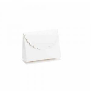 Scatola a borsetta avorio classica cm 8,5 x 3 x 6,5 H