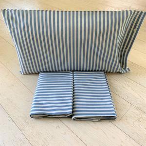 Completo Lenzuola Riga bastoncino blu