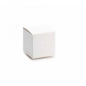 Scatola classica avorio cm 5 x 5 x 5 H
