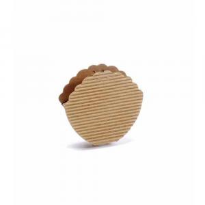 Scatola a conchiglia naturale rustica piccola cm 9 x 2,5 x 8 H
