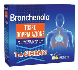 Bronchenolo Tosse Doppia Azione Gusto Miele E Limone 10 Bustine