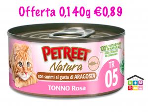 Petreet natura tonno rosa con surimi al gusto di aragosta 0,140gr