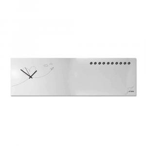 Orologio da muro organizer orizzontale Paperplan bianco 100x30cm