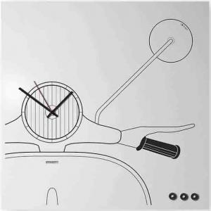 Orologio da muro Organizer Scooter in lamiera bianca 50x50 cm