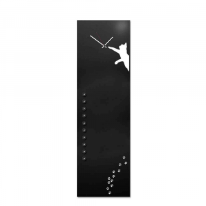 Orologio da muro organizer verticale Cat nero 30x100