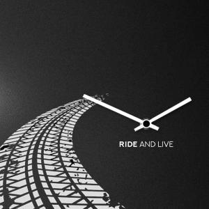 Orologio da muro Ride in lamiera nera 50x50 cm