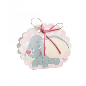 Scatola porta confetti Dumbo rosa