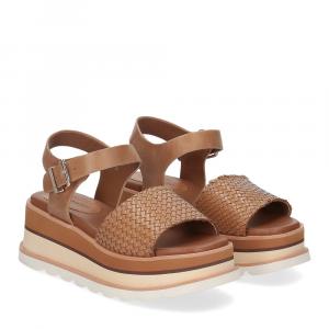 Rahya Grey sandalo Bea pelle cuoio