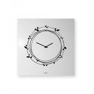 Orologio da muro Nest laccato bianco 50x50 cm