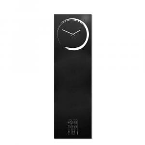 Orologio da muro con calendario e organizer S-enso nero 100x30 cm