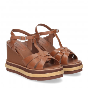 Rahya Grey sandalo krizia pelle cuoio