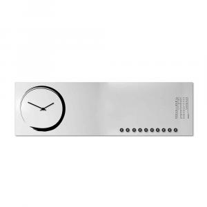 Orologio da muro con calendario e organizer S-enso bianco 30x100 cm