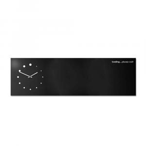 Orologio da muro con organizer Loading nero 100x30 cm