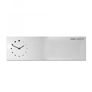 Orologio da muro con organizer Loading bianco 100x30 cm