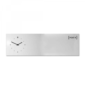 Orologio da muro con organizer Post-it bianco 100x30 cm