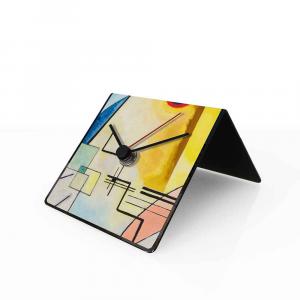 Orologio da tavolo con calendario perpetuo Arte Kandinsky 10x10x10 cm
